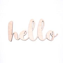 """Дървен надпис """"HELLO"""""""