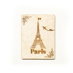 Дървена картичка Paris