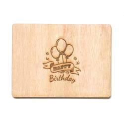 """Дървена картичка """"Честит рожден ден"""""""